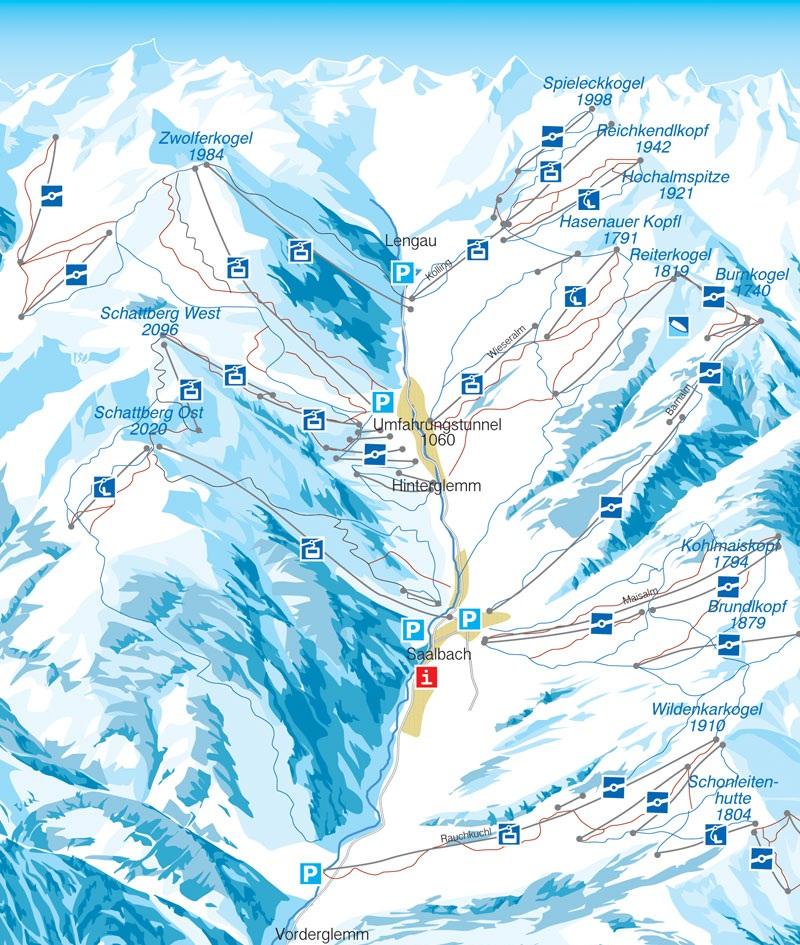Схема трасс Заальбаха и